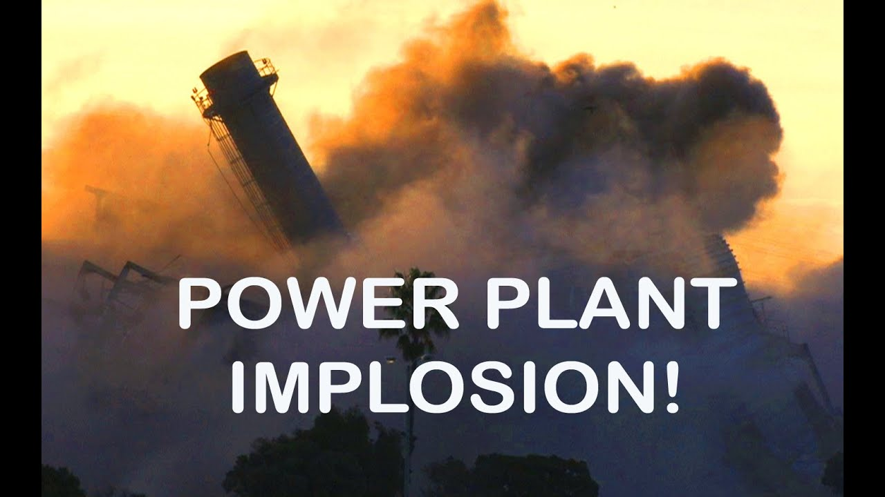 Implosion Close-Up Power Plant Awesome Explosions