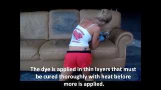Dye A Leather Couch   Color Change Leather   St Louis Leather Repair    YouTube