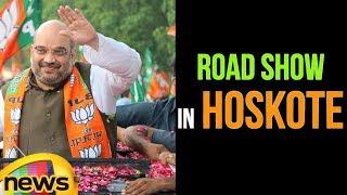 BJP Chief Amit Shah's Road Show in Hoskote | Karnataka | Mango News - MANGONEWS