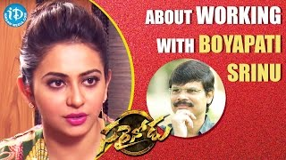 Rakul Preet About Working With Boyapati Srinu || Sarrainodu || Talking Movies with iDream - IDREAMMOVIES