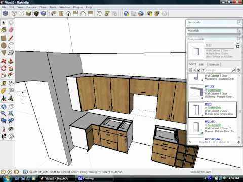 SketchUp plugins assist Kitchen Design using Dynamic Components