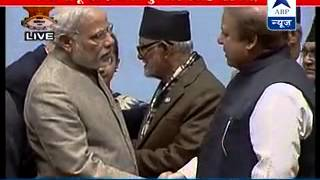 Modi, Sharif shake hands, chat at SAARC closing event after cold vibes - ABPNEWSTV