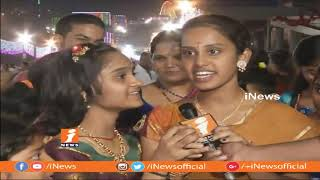 Dussehra Navratri 2nd Day Celebrations Indrakeeladri Durga Temple Vijayawada | iNews - INEWS
