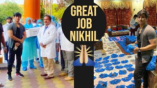 Hero Nikhil Donated Protection Equipment To The Health Workers & Docters | Covid19 - TFPC