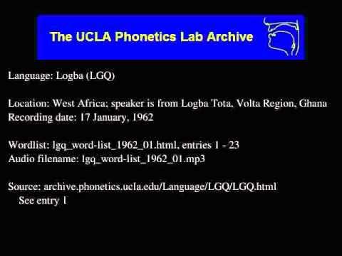 Logba audio: lgq_word-list_1962_01