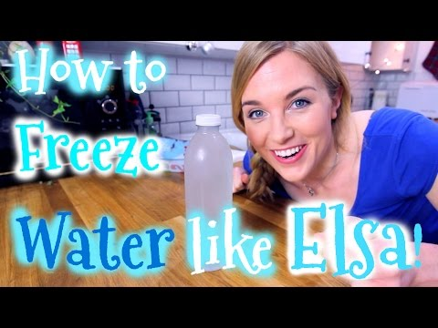 How to Freeze Water like Elsa! (Supercooling Explained) | Maddie Moate
