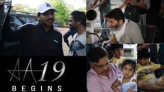 #AA19 Shoot Begins || Allu Arjun & Trivikram || Pooja Hegde || Geetha Arts || Haarika & Hassine - IGTELUGU