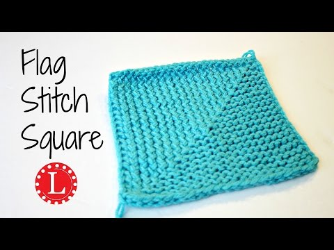 LOOM KNITTING Flag Stitch Square - Great for Blankets