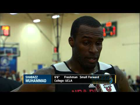Shabazz Muhammad at the NBA Draft Combine 2013