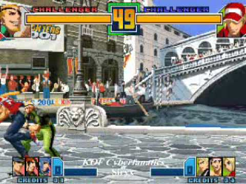 KOF 2001 fighters cafe begining of the end