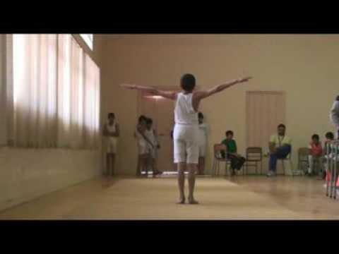 الجملة الحركية في الجمباز لمدرسة عبدالله بن سهيل
