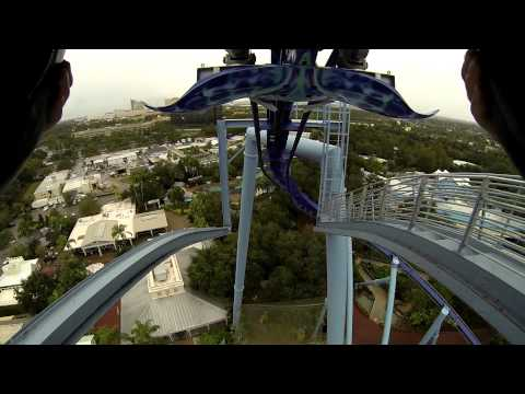[HD1080] 'Manta' Coaster (Forward Facing), Seaworld, Orlando, Florida 2013