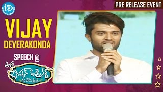 Vijay Deverakonda Speech @ Fashion Designer s/o Ladies Tailor Pre Release Event || Vamsy - IDREAMMOVIES