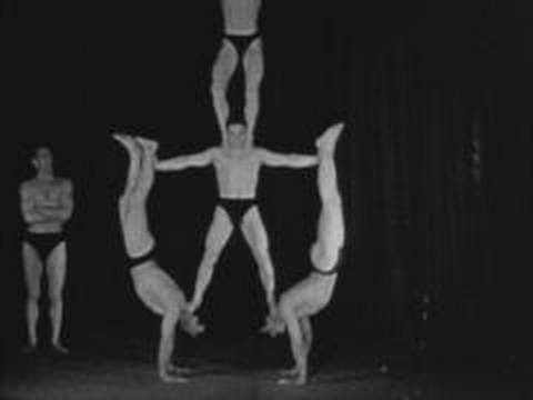 Five male acrobats (1934)