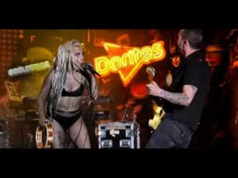 Lady Gaga at SXSW sausages .She Lets Some Girl VOMIT ON HER