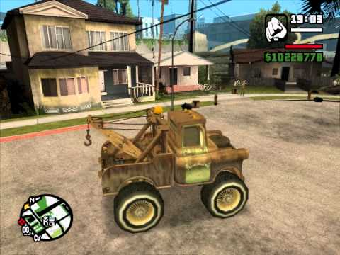 GTA SA Tow Mater (from cars) on DONKS