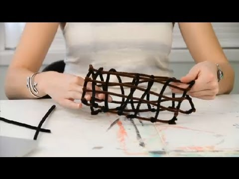 How to Make a Longhouse Out of Pipe Cleaners : Pipe Cleaner Crafts