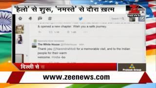 As President Obama left India, White House tweeted thanks to PM Modi - ZEENEWS