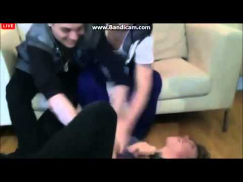 Union J tickling George. Livestream 4/29/13