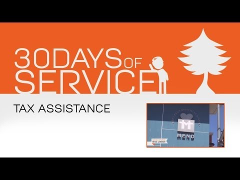30 Days of Service by Brad Jamison: Day 7 - Tax Assistance