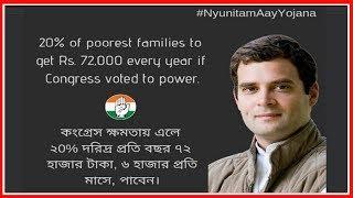 Rahul Gandhi Minimum Income Scheme Nyay;5 करोड़ परिवार के 25 करोड़ लोगों को हर महीने देंगे Rs 72,000 - ITVNEWSINDIA