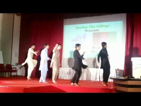 Afghan Students Attan Dance in Garden city  college India Bangalore