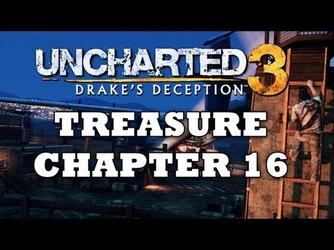 Uncharted 3 Treasure Locations: Chapter 16 [HD]