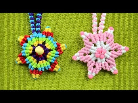 How to Make a Macrame Star Flower / Tutorial
