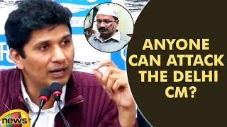 Bharadwaj stated that the Message from the Central Govt is Clear that Anyone Can thrash Delhi CM ? - MANGONEWS