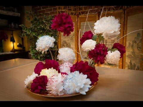 Flores de Papel de Servilletas con Javier Moyano
