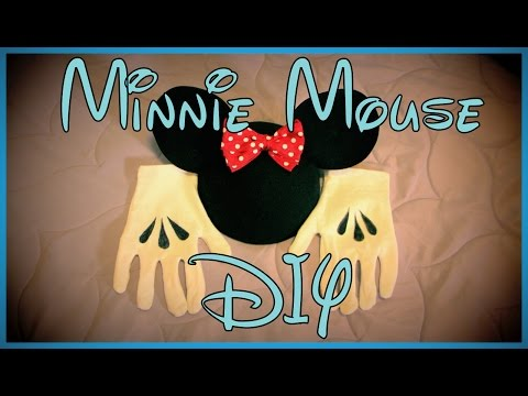 Minnie Mouse Bow & Gloves DIY Halloween Costume Tutorial