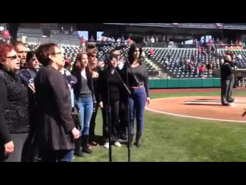 Partnership2Gether: Kfar Saba Galron Choir sings National Anthem at Columbus Clippers Stadium