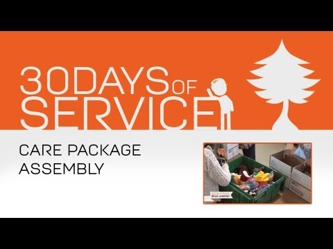 30 Days of Service by Brad Jamison: Day 22 - Care Package Assembly