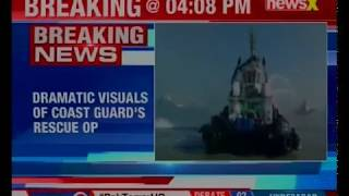 ICG fights major fire on board oil tanker; all 26 crew members evacuated safely - NEWSXLIVE