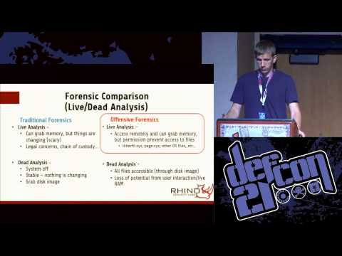 Defcon 21 - Offensive Forensics: CSI for the Bad Guy