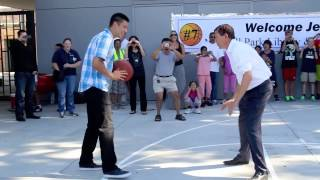 Jeremy Lin Plays 1-on-1 Against Palo Alto Mayor