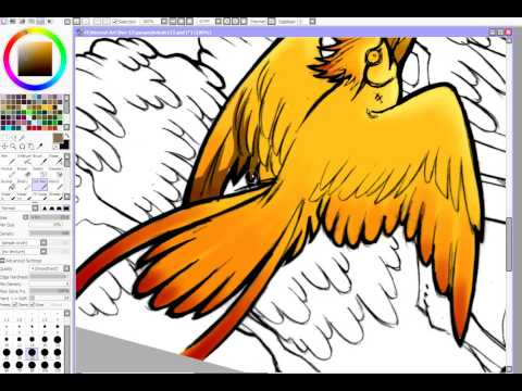 How to Color With Paint Tool Sai  Cel Shade  Technique