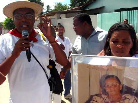 João Monteiro falando na caminhada da vitória do ACAES em Alhandra, Nov. 2009