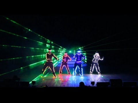 Super Cool Tron LED Laser Light Dance Show by RDF