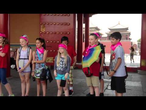 American Children sing at Forbidden City
