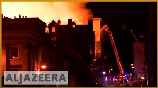 🏴󠁧󠁢󠁳󠁣󠁴󠁿'Heartbreaking': Fire consumes Glasgow School of Art for second time | Al Jazeera - ALJAZEERAENGLISH
