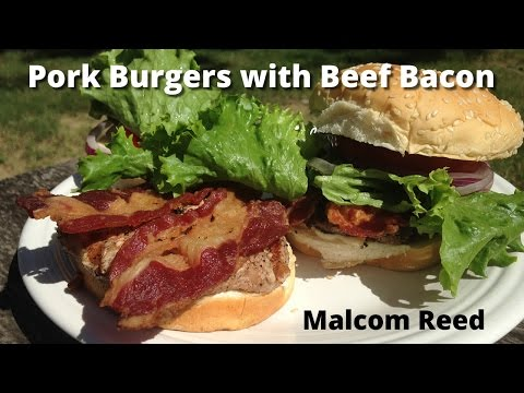 Bacon Burger | Pork Burger and Beef Bacon Grilled Burger Malcom Reed HowToBBQRight