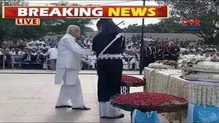 LK Advani Pays Final Homage To his Closest Friend Atal Bihari Vajpayee | CVR NEWS - CVRNEWSOFFICIAL