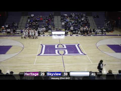 HS Basketball: Heritage vs Skyview 1st Qtr