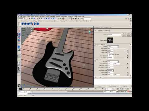 Maya 3d : The Fender Stratocaster Electric Guitar Modeling Part 7