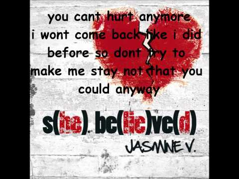 Jasmine V This Isn t Love lyrics on screen 
