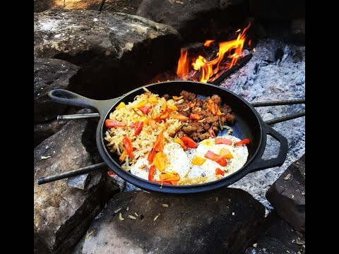 Cast Iron Cookin Midday Breakfast - Camp Cooking
