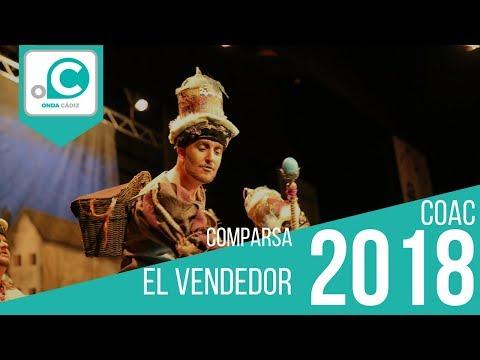 La agrupación El vendedor llega al COAC 2018 en la modalidad de Comparsas. Primera actuación de la agrupación para esta modalidad.