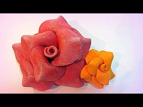 Moldes para hacer flores en goma eva vidoemo emotional - Flores de goma eva ...