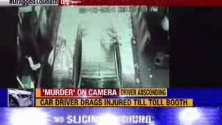 #DraggedToDeath: Shocking visuals of man dragged by car near Lucknow - NEWSXLIVE